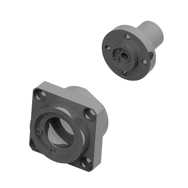 轴承座组件 带挡圈双轴承L尺寸指定型