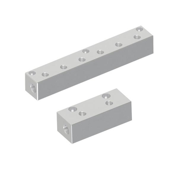 气压用歧管块 横向通孔 顶孔型 螺纹直径固定型  40方型