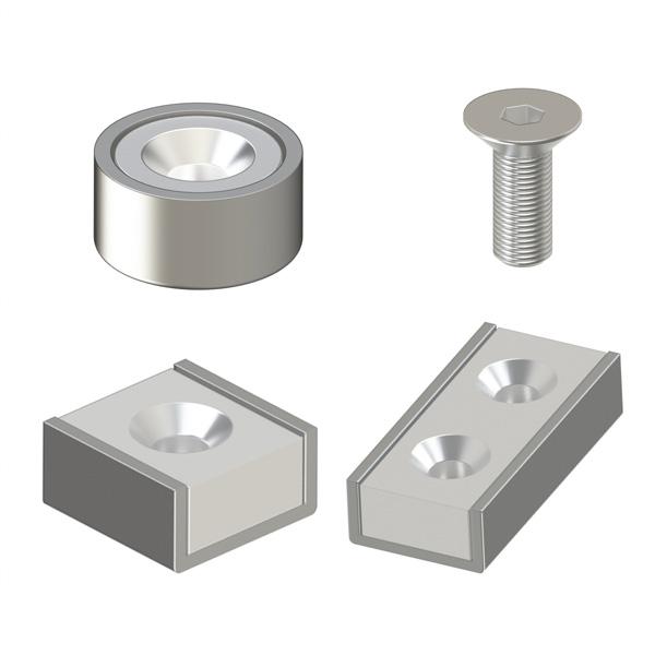 磁铁 带平头螺栓止动座型