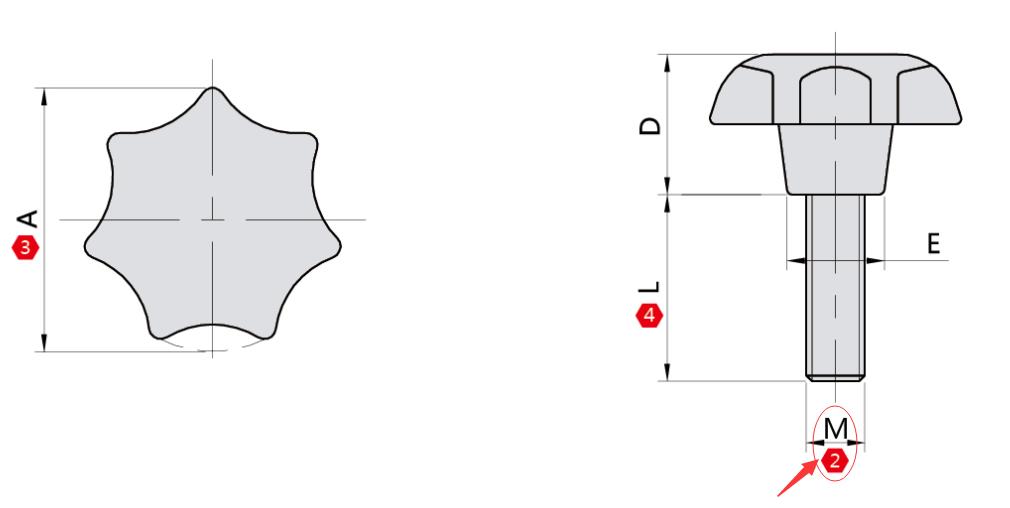 外螺纹 M