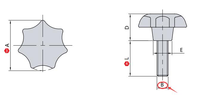 外螺纹 M(mm)