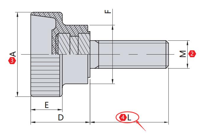 螺纹长度 L(mm)
