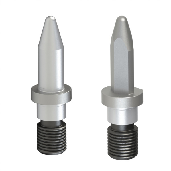 焊接夹具用定位销 锥头R型 带肩外螺纹型 精密级