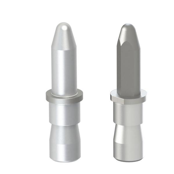 焊接夹具用定位销 锥头R型 带肩止动螺丝固定型 精密级