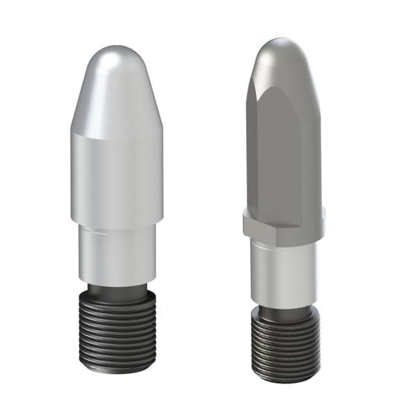 焊接夹具用定位销 锥头R型 无肩外螺纹型 精密级