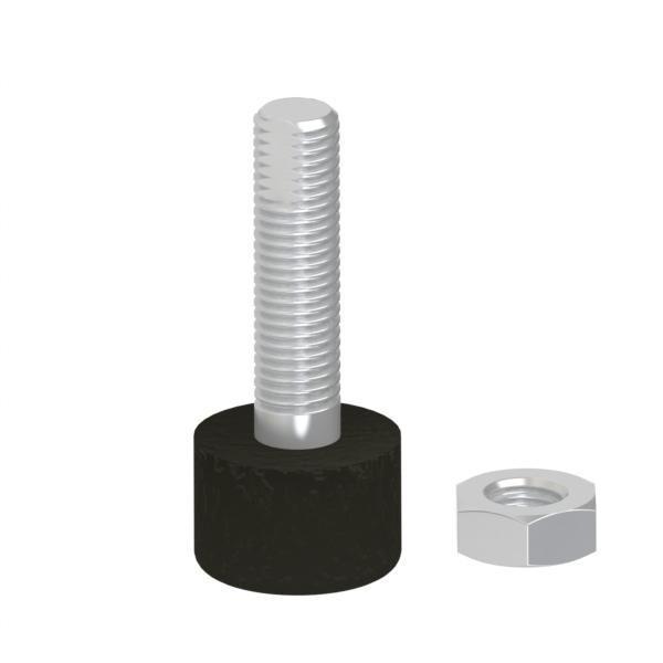 冲击吸收挡块 带低弹性橡胶螺栓