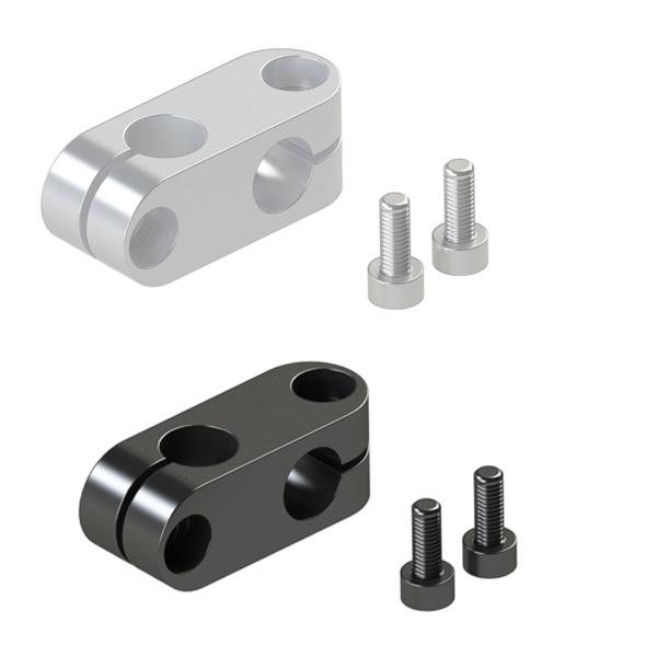 超简易型支柱固定夹 同径直交型·带蝶形旋钮的同径直交型